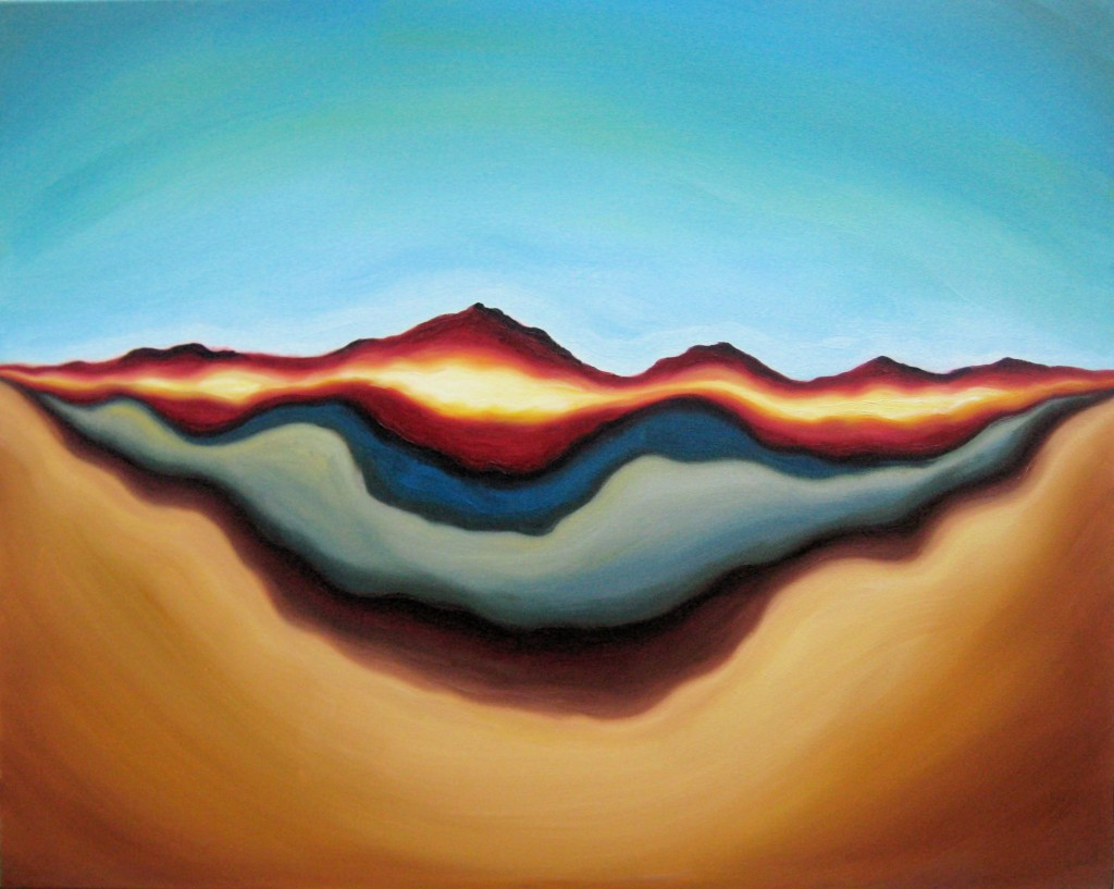 "Horizon of Ages. Original oil painting on canvas, 24"" x 30"", © 2011 Tiffany Davis-Rustam."