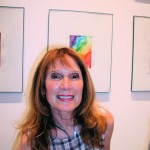Artist Linda Jacobson, at George Lawson Gallery