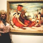 Artist Brandi Milne, at Corey Helford Gallery