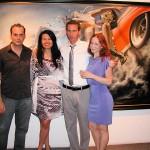 Nicola Verlato, Merry Karnowsky, Vonn Sumner, and Karnowsky Gallery assistant