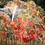 Maria Bello, El cielo tiene jardines, collage/mixed media