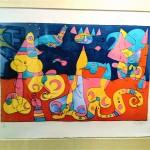 lithograph print by Joan Miro