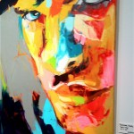 right panel of Sans Title palette knife painting, by Francoise Nielly