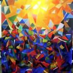 painting by Arthur Secunda, at Boa Gallery