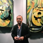 artist Yuroz & his bas relief painted sculpture