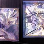"""Esteemed textile artist Hollis Chatelain's 2 pieces: """"Denim Flow"""" & """"From Stone"""""""