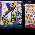 "Quilted contemporary abstractions: ""African Burial Ground III"" & ""Scattered Archeologies III"" by Valerie S. Goodwin"