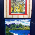 "Top: ""A View from the Clubhouse"" by Ranell Hansen. Bottom: ""Hanalei Bay Splendor"" by Corinne Phillips"