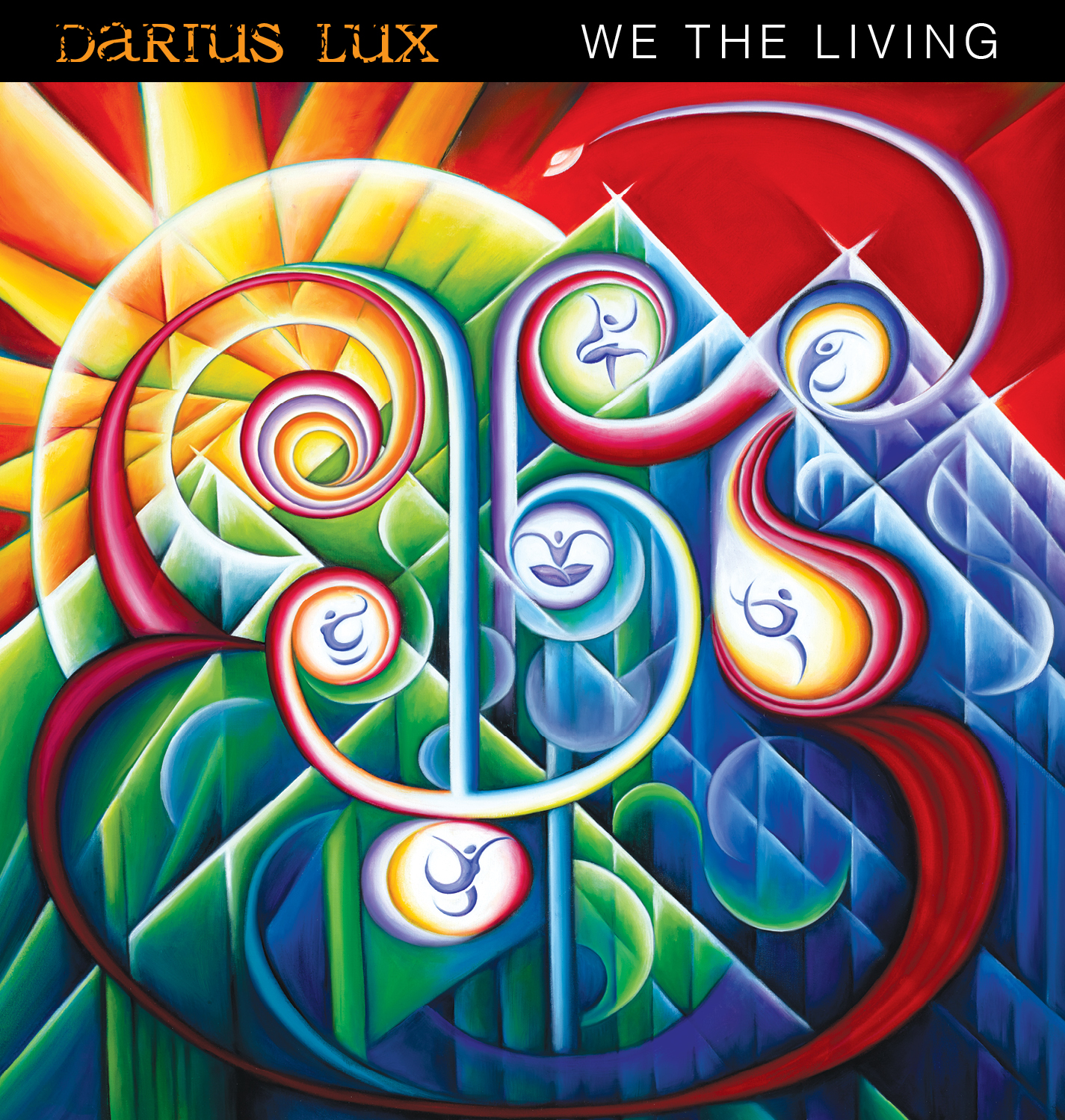 "Final painting on the Darius Lux album cover: ""We The Living"""